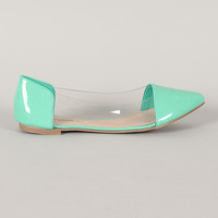 Breckelle Dia-04 Lucite Pointy Toe Ballet Flat