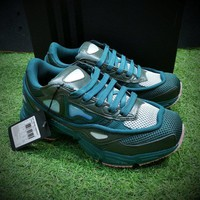 Sale Raf Simons x Adidas Consortium Ozweego 2 III Retro Sport Smart Running Shoes Dark Green Clear Pink Trainers Shoes AQ2640