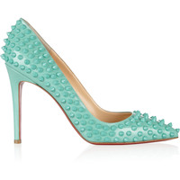 Christian Louboutin - Pigalle Spikes 100 leather pumps