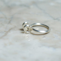 Thick Septum Nose Cuff © - Silver (fake nose ring)