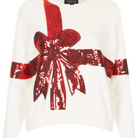 Knitted Sequin Present Jumper