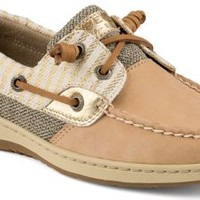 Sperry Top-Sider Bluefish Mariner Stripe 2-Eye Boat Shoe Cognac, Size 5M  Women's Shoes