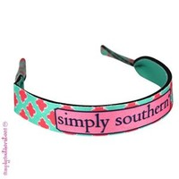 Simply Southern Preppy Croakies in Mint Coral