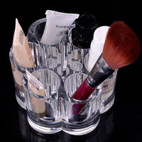Crystal Make Up Cosmetic Container Storage Case Box Container Bathroom Organizer Jewelry Organizer Case Acrylic Makeup Pen Box