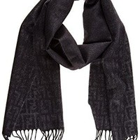 Fendi men's cashmere scarf timeless grey
