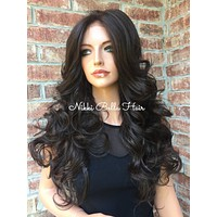 Gordon 4x4 Silk Top Swiss Human Hair Blend Multi Parting Lace Front Wig