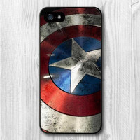 Hero Captain America Shield Pattern Protective Phone Case For iPhone 4/4s/5/5s/5c/6/6s/6plus/6s plus