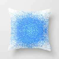 sparkles of blue Throw Pillow by Marianna Tankelevich