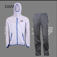 2016 New Dawa Fishing Summer Sun Track Suit Men's Quick-drying Breathable UV Fishing Leisure Suit Long-sleeved  With Pants Sets