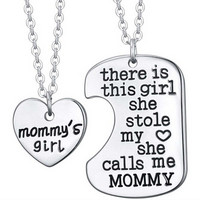 Mother's Day Gift Puzzle Necklace Mother And Daughter