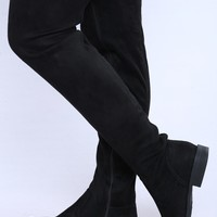 Kinley Thigh High Boot - Black