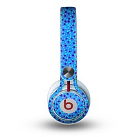The Small Scattered Polka Dots of Blue Skin for the Beats by Dre Mixr Headphones