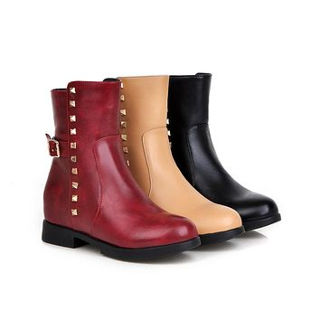 Studded Ankle Boots Women Shoes Fall|Winter