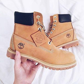 Timberland street fashion men and women models high classic Martin boots shoes