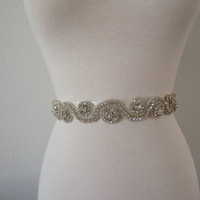 SALE Wedding Belt, Bridal Belt, Sash Belt, Crystal Rhinestone B2047