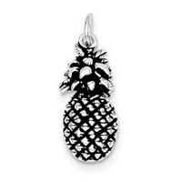 Antiqued Pineapple Charm in Sterling Silver