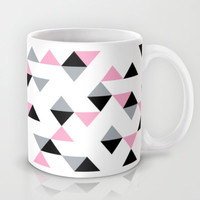 Triangles Black and Pink Mug by Project M | Society6