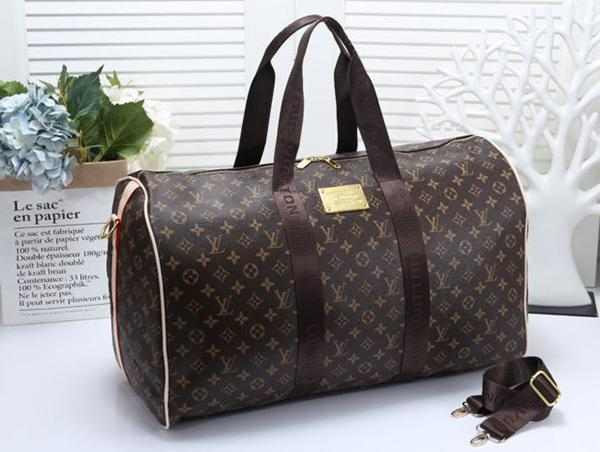 Image of Louis Vuitton LV Women Leather Multicolor Luggage Travel Bags Tote Handbag