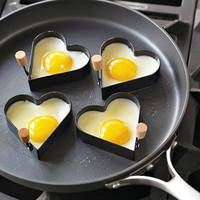 Norpro Nonstick Heart Pancake Egg Rings, Set of 2