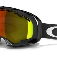 Oakley Unisex-Adult Splice Snow Goggles (Jet Black w/ Fire Iridium, One Size)
