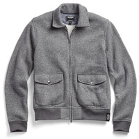 Fleece Two Pocket Bomber in Charcoal