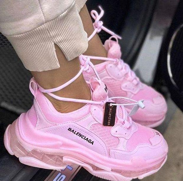 Image of Balenciaga Fashion Women Men Letters Contrast Crystal Clear Shoes Triple Sole Shoes