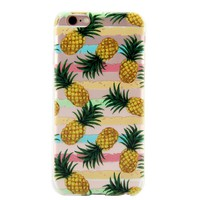 Summer Pineapple Cover Case for iPhone 7 7Plus & iPhone 6s 6 Plus & iPhone X 8 Plus with Gift Box