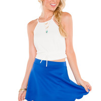 May Scalloped Skirt - Blue
