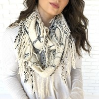 Silver Fox Plaid Infinity Scarf