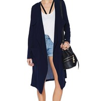Rain or Shine Draped Jacket - Navy