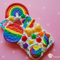 Rainbow Bright Whipped Cell phone case by Heavensweetcreations