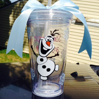 Disney's Frozen Olaf Tumbler; personalized; cute!