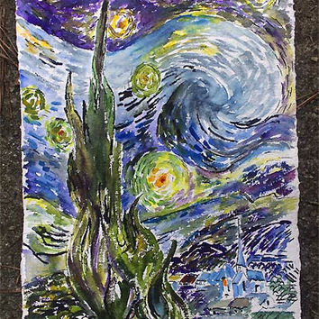 Starry Night After Vincent van Gogh