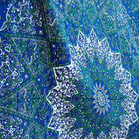QUEEN indian tapestry star hippie mandala tapestries handmade boho beach tapestries blue room drom wall hanging wall decore