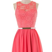 Dining on the Terrace Dress - Coral