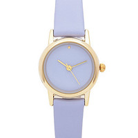 Grape Pastel Leather Quartz Wristwatch