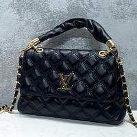 LV Louis Vuitton retro bumpy rib check fashion ladies handbag shoulder messenger bag