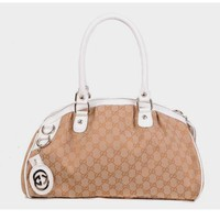 GUCCI Women Leather Fashion Crossbody Shoulder Bag Tote Handbag