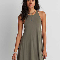 AEO Soft & Sexy Strappy Shift Dress , Dusty Olive
