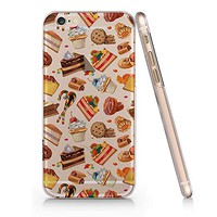Cute Sweet Food Pattern Clear Transparent Plastic Phone Case for iphone Apple Phone SUPERTRAMPshop (iphone 6)