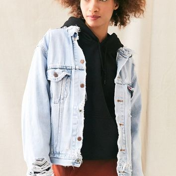Vintage Levis Super Distressed Jacket - Urban Outfitters