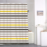 Funky bright striped special custom shower curtains that will make your bathroom adorable