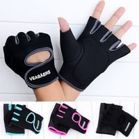 Gym Fitness Workout Weight Lifting Cycling Driving Hunting Half Mitt Glove  7_S = 1917211332