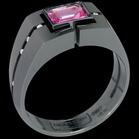 Mousson Atelier Mens Jewellery Collection Pink Sapphire and Diamond Ring R0071-0/2