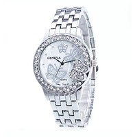Silver Butterfly Watch