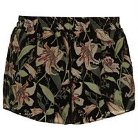 Black Devore Floral Shorts - New In This Week - New In - Topshop USA