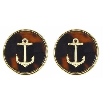 Tortoise Shell Icon Earrings
