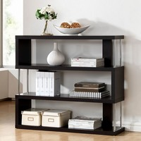 Baxton Studio Barnes 3-Shelf Bookcase (Brown)