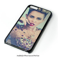 Miley Cyrus Wrecking Ball Pink Cover Design for iPhone and iPod Touch Case