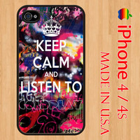 Keep Calm and Listen To COLDPLAY MYLO XYLOTO iphone 4 by Dreamcase